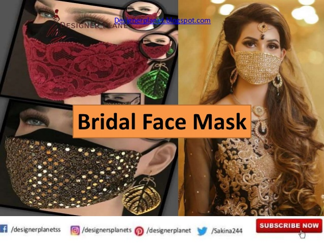 Bridal Masks Are Now A Part Of Bridal Outfits|Mask for Bride| Designerplanet