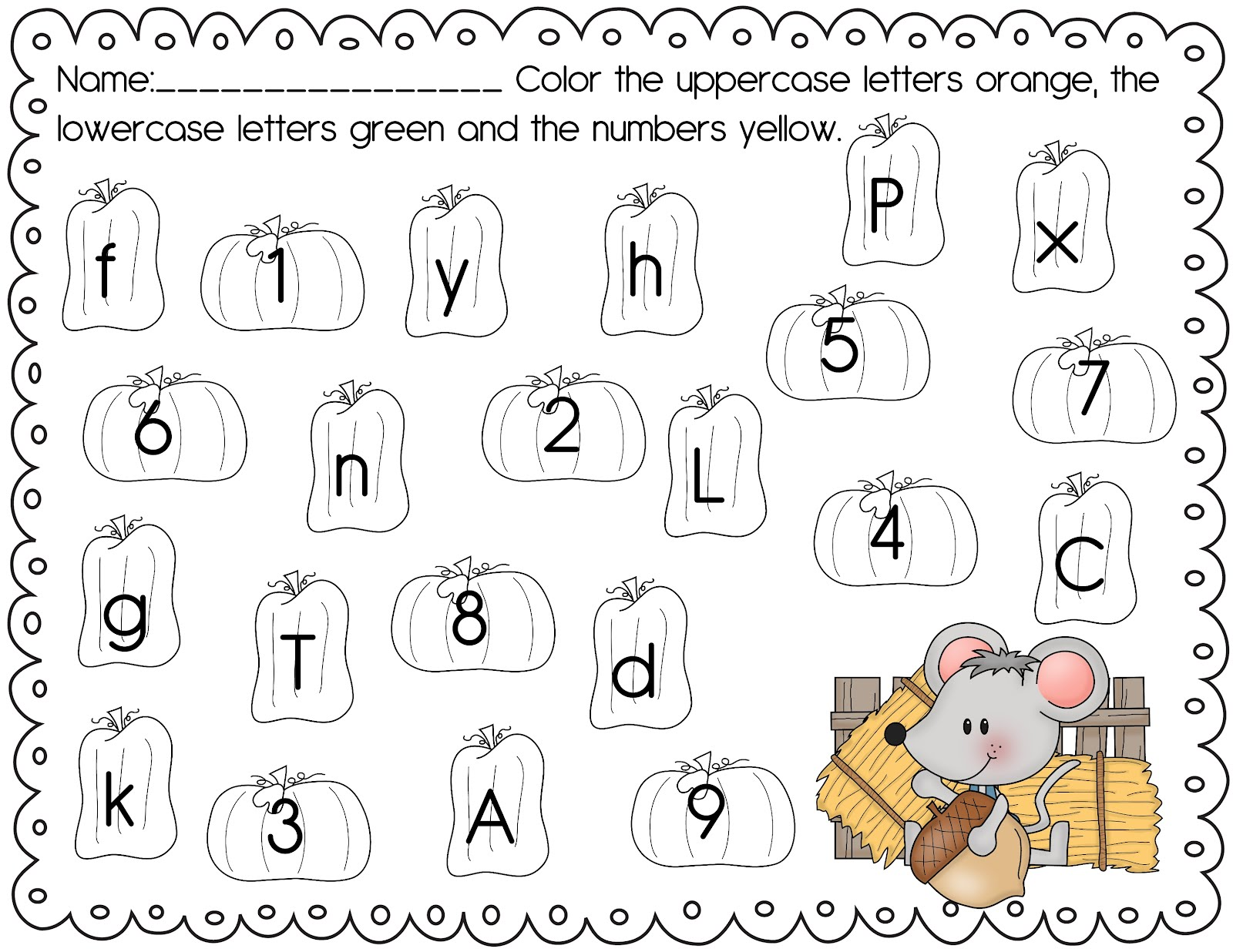 The Crazy Pre K Classroom Fall Freebie Fall Themed Abc And 123 Worksheets Deanna Jump Reaches