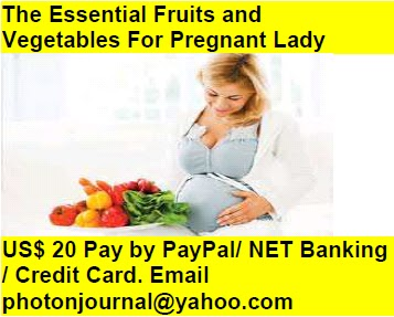 The Essential Fruits and  Vegetables For Pregnant Lady pregnancy book