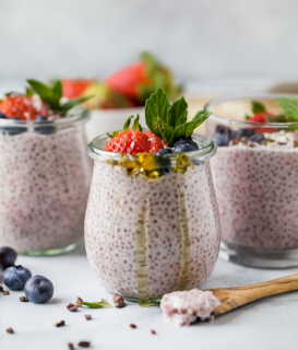 Light and Creamy Strawberry Chia Pudding