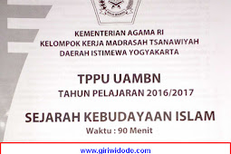 Soal TPPU UAMBN MTS DIY 2017 – SKI