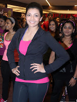 Kajal Agarwal At Zumba Session Gold Gym-cover-photo