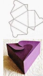 Geometrik Şekillerde Hediye Paketi Yapımı, Resimli Açıklamalı  2
