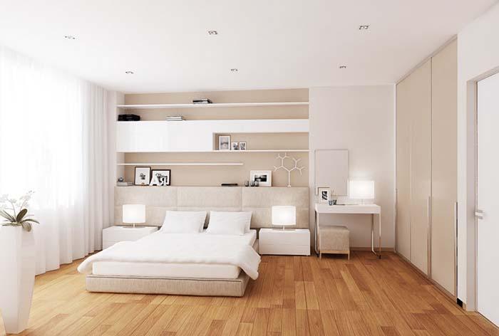 minimalist beyaz yatak odası tasarımı