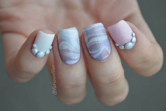 #31dc2015 watermarble tutorial pearls 3d embelishment