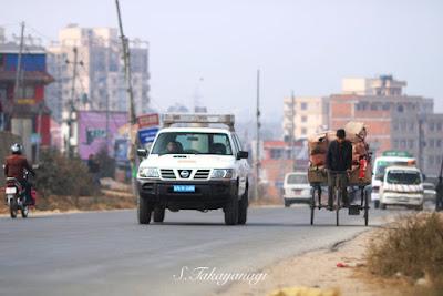 ネパール パタンの大通り