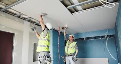 foto instaladores de techo pladur Barcelona continuo
