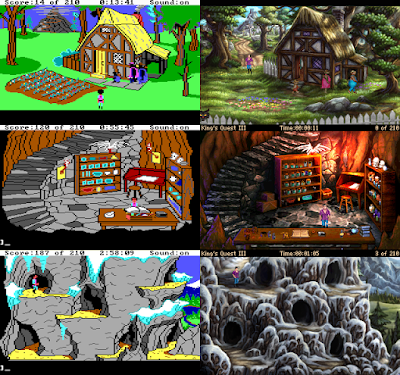 Comparación King's Quest III original vs Remake King's Quest III Redux