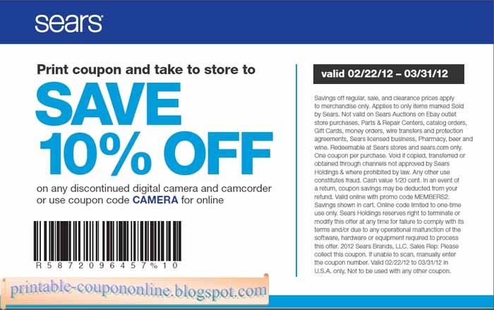 sears coupon codes for online shopping