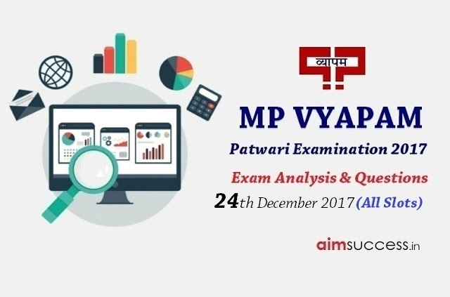 MP Patwari Exam Analysis 2017 - 24th December 2017