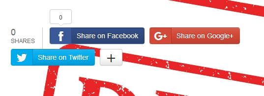 Social share buttons with counter for blogger