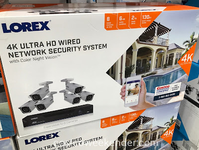 Keep an eye out on your home when you're away with the Lorex 4K Ultra HD Wired Security System with Color Night Vision