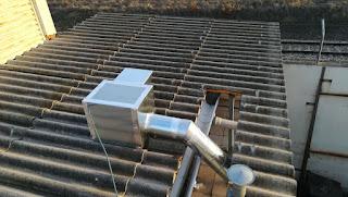 foto caja extracción 400º 2h. en tejado