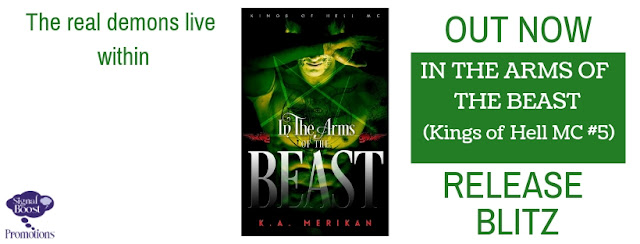 Release Blitz Request - K.A. Merikan - In The Arms Of The Beast (Kings Of Hell #5)