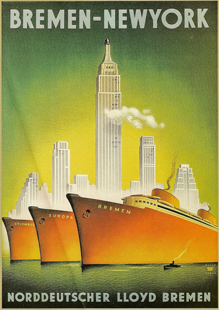 Image result for 1930s luxury liner Europa poster