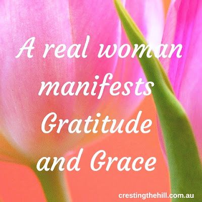 A real woman manifests Gratitude  and Grace
