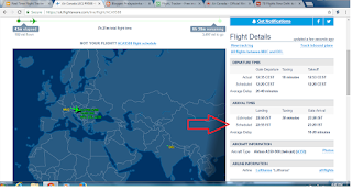 Real time flight tracker
