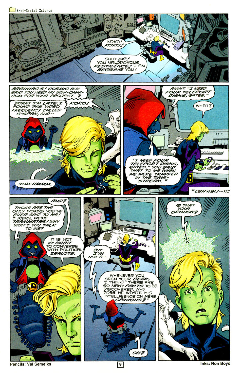 Legion of Super-Heroes (1989) 94 Page 9