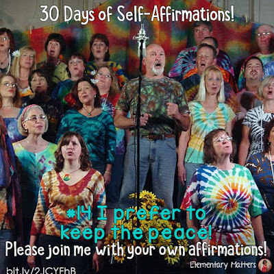 "30 Days of Self-Affirmations: Day 14: I prefer to keep the peace. For 30 days, I will be celebrating my own ""new year"" with self-affirmations. Won't you join me? http://bit.ly/2JCYFhB"