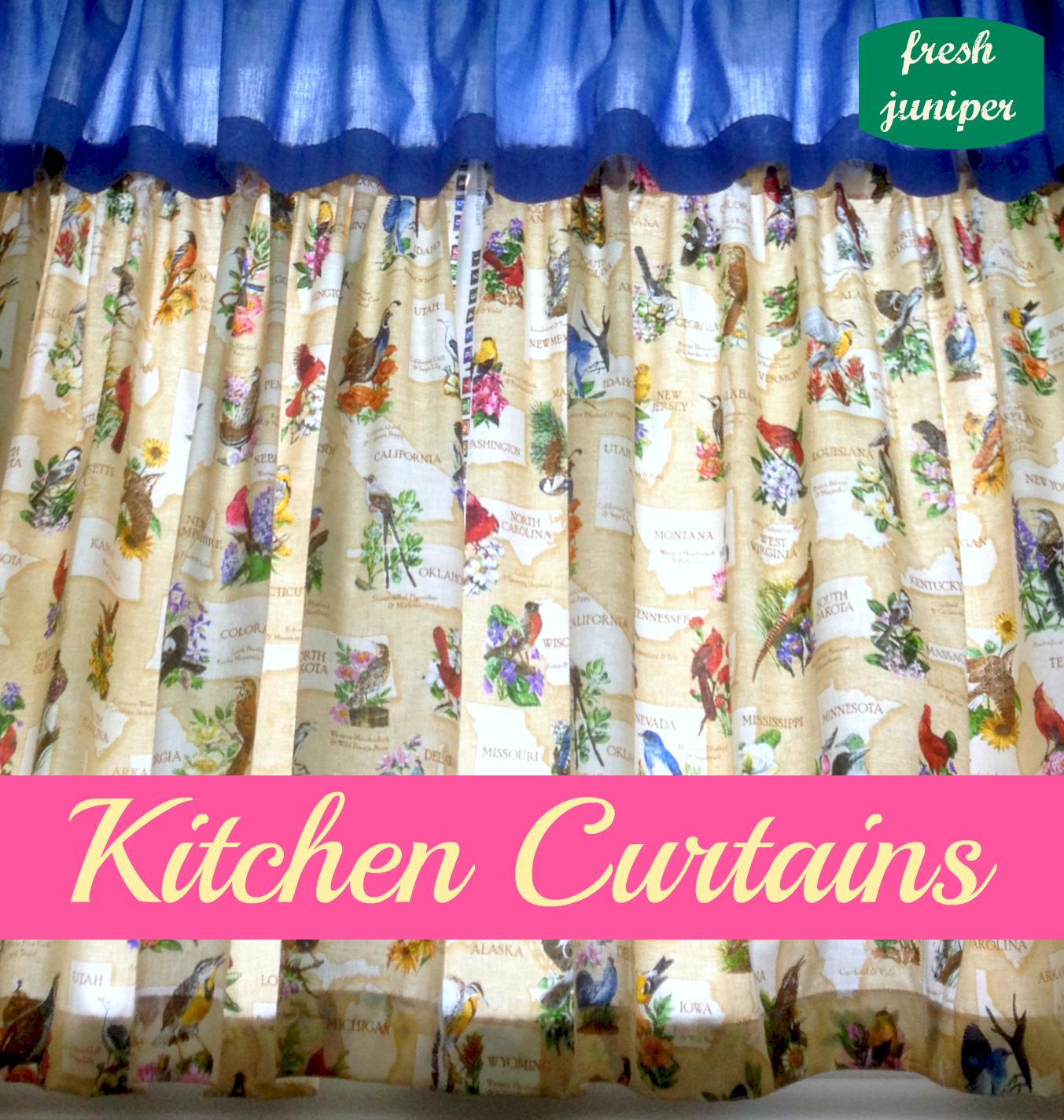 Fresh Juniper: Kitchen Curtains Tutorial