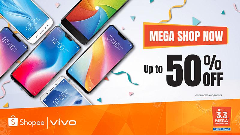 Vivo announces Shopee 3.3 Mega Shopping Day deals