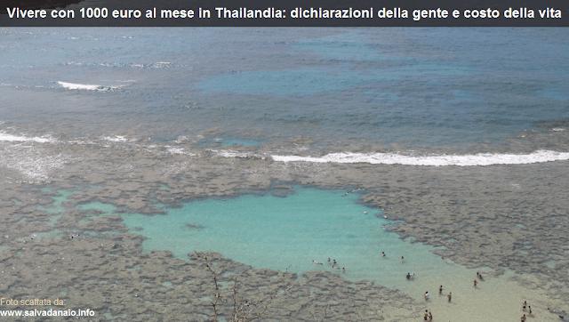 Vivere con 1000 euro al mese in Thailandia dichiarazioni gente