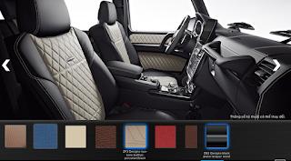 Nội thất Mercedes G500 2018 màu Đen / Vàng Porcelain ZF3