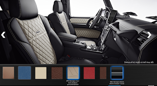Nội thất Mercedes G500 Edition 35 2015 màu Đen / Vàng Porcelain ZF3