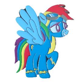 My Little Pony Rainbow Dash Pin Enterplay Item