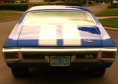 1970 Chevrolet Chevelle Malibu SS Muscle Car Coupe Rear