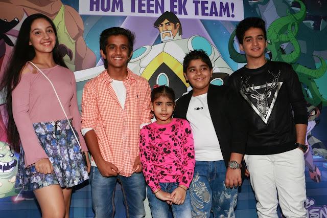 (L-R)Ashnoor, Bhavesh,Sadhil & Faisal at the screening of AstraForce