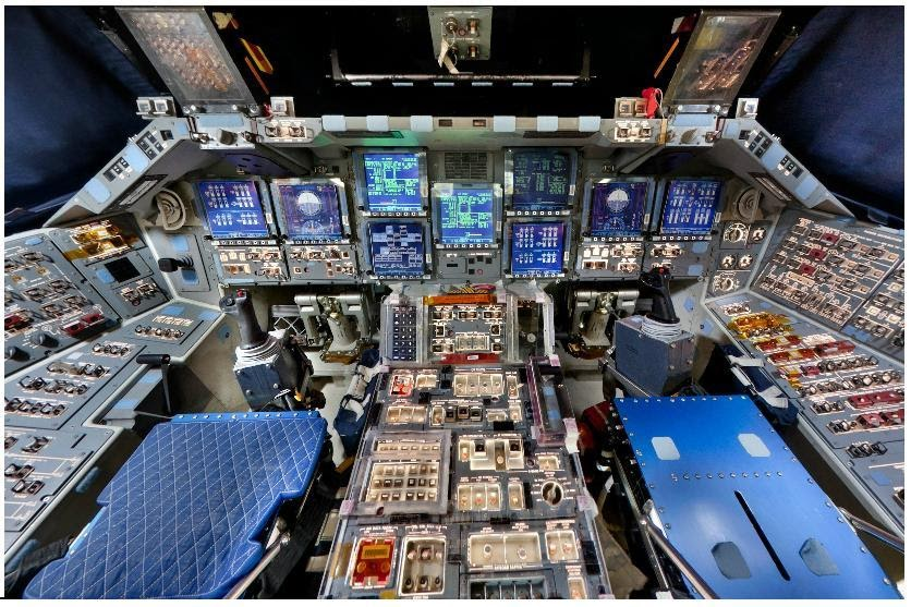 space shuttle reentry cockpit view - photo #8