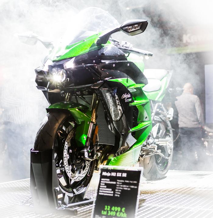 moottoripyörämessut 2018 helsinki mp-messut Kawasaki Ninja n2 kuminpoltto ninjakawa