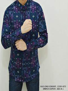 baju batik atasan pria