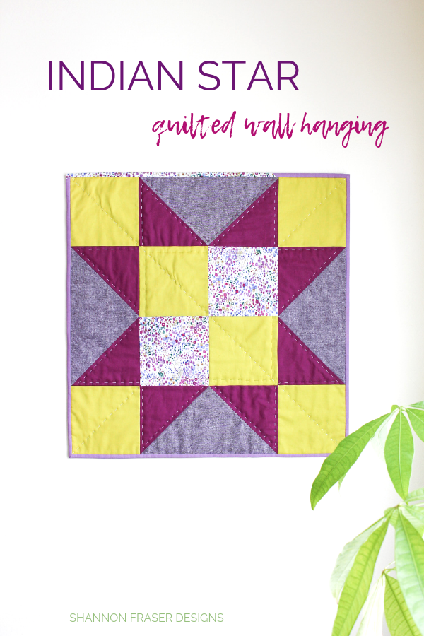 Indian Star Quilted Wall Hanging | Quilt Big Blog Hop | Shannon Fraser Designs