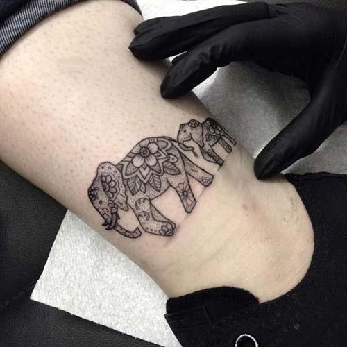 elephant ankle tattoo ayak bileği fil dövmesi