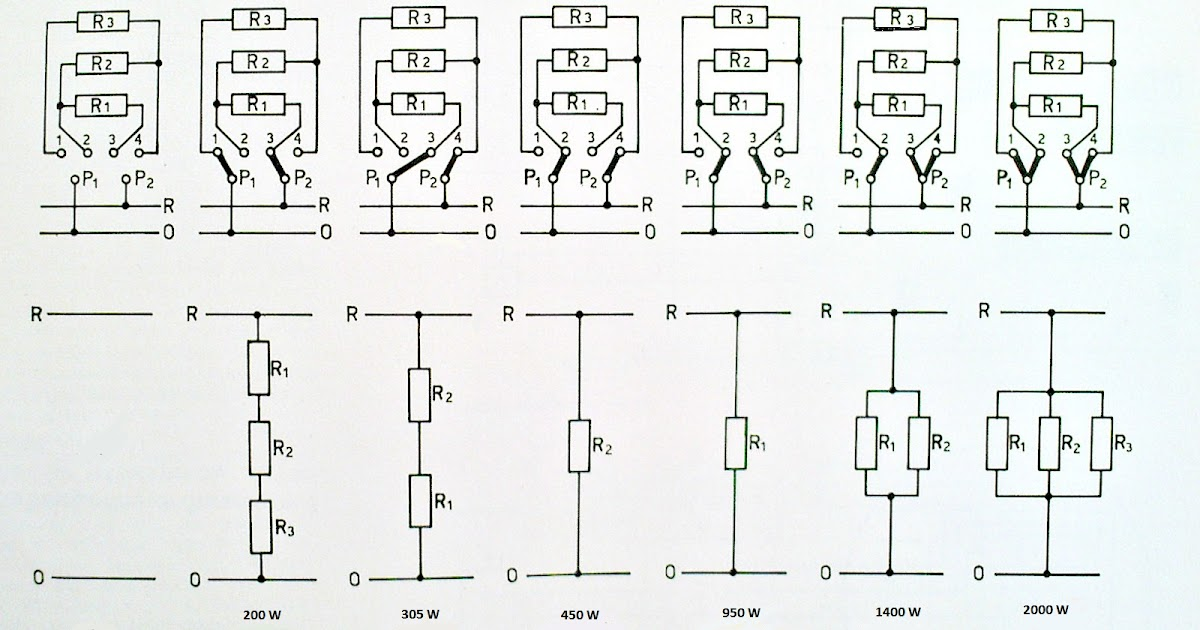 Electrician: Wiring switch 6 positions cooker