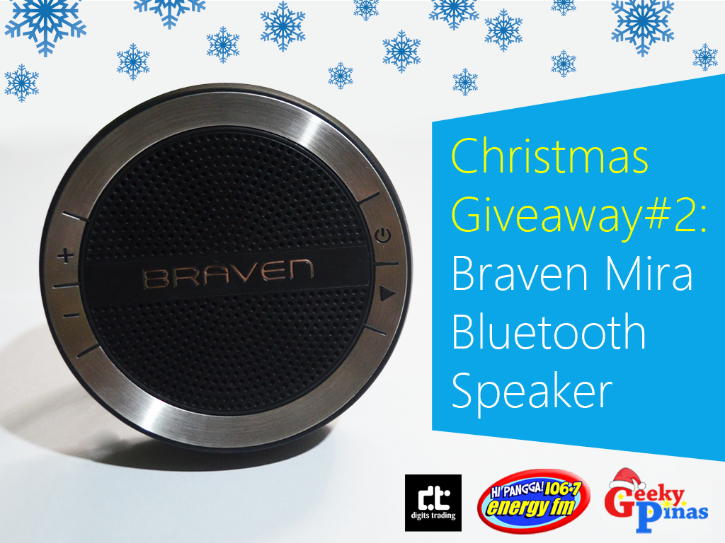 Christmas Giveaway # 2: Braven Mira Water Splash Resistant Bluetooth Speaker Priced At Php 4,450!
