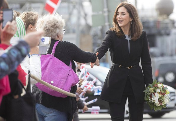 Crown Princess Mary of Denmark wore ZARA crepe frock coat