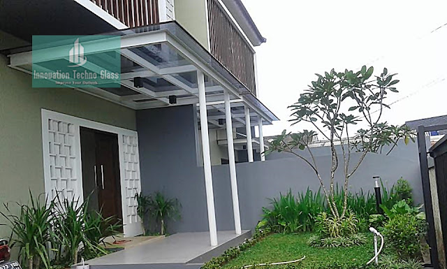 Kanopi Kaca di Jl. Merpati 2 - Bintaro - Tangsel