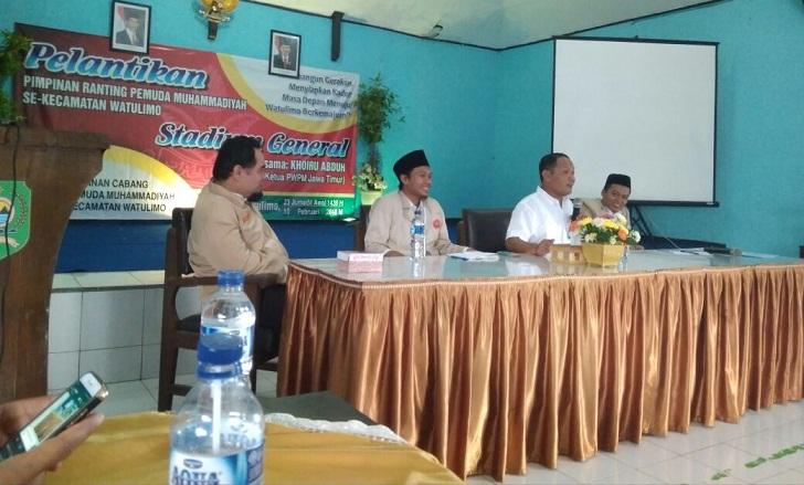 Wabup Trenggalek Kirim Video ditengah Prosesi Pelantikan PR Pemuda  Muhammadiyah