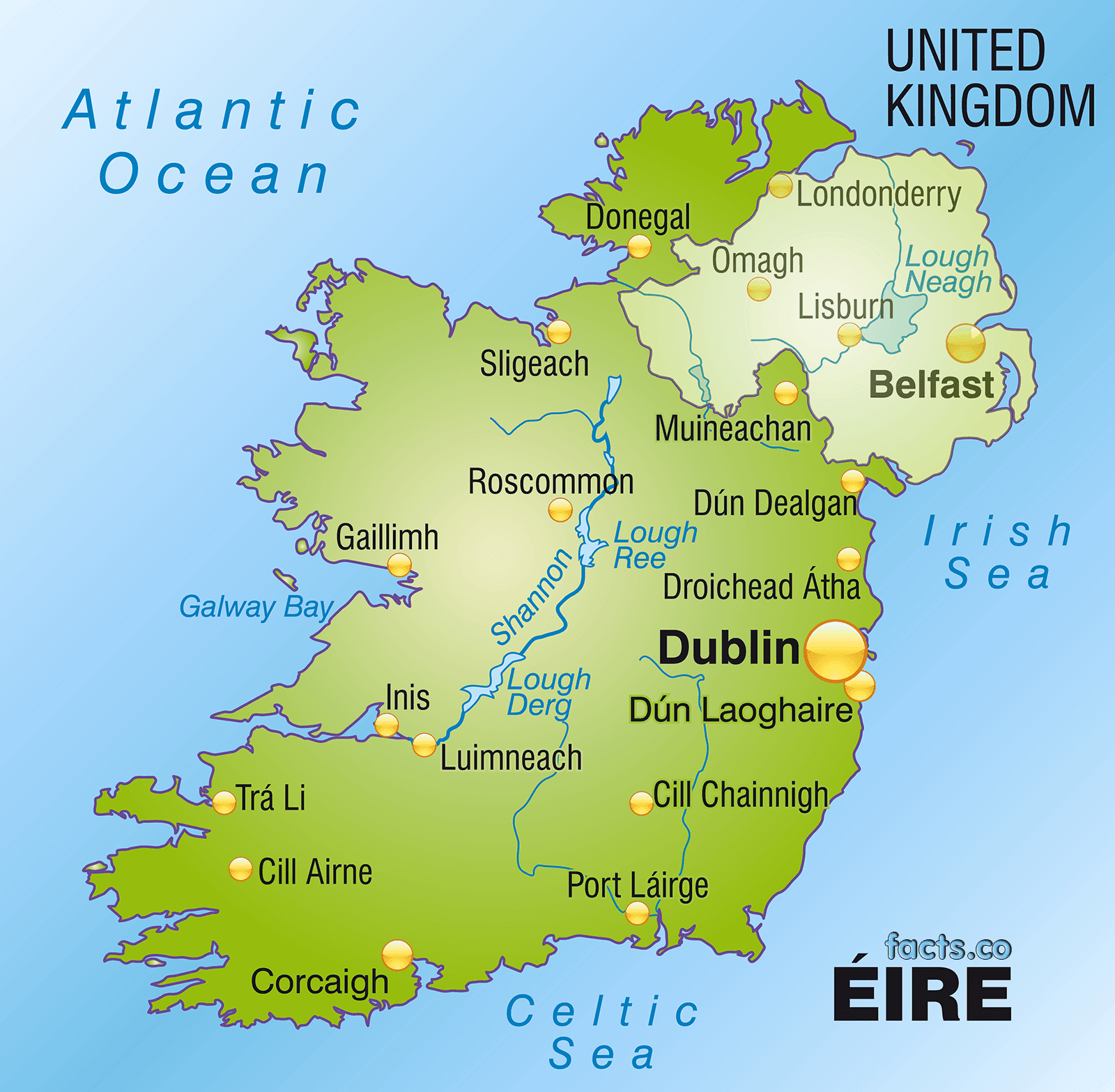 Physical Map Of Ireland.Ireland Physical Map Ireland Map Geography Political City