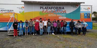 Alunos da Escola Yolanda participam de palestra na Plataforma Educativa Repsol Sinopec