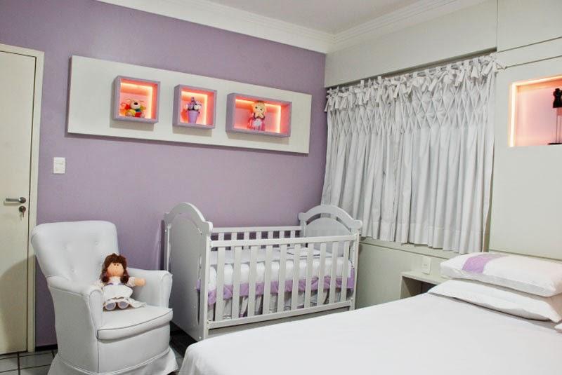 Cuarto para beb en color lila dormitorios colores y estilos - Color pared habitacion bebe ...