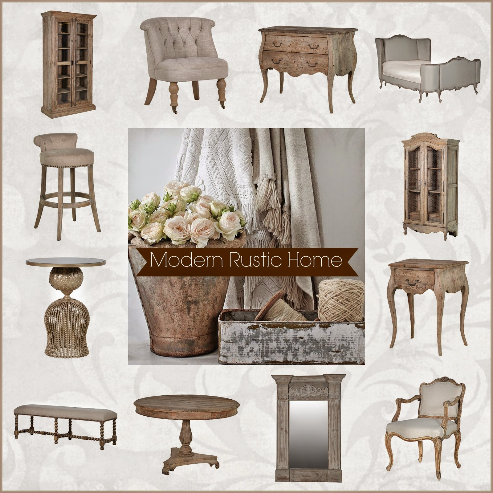 La Maison Chic French Furniture Interiors Blog: Modern Rustic