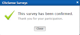 Clixsense survey completed