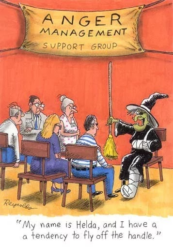 Funny Anger Management Support Group Cartoon Joke Picture