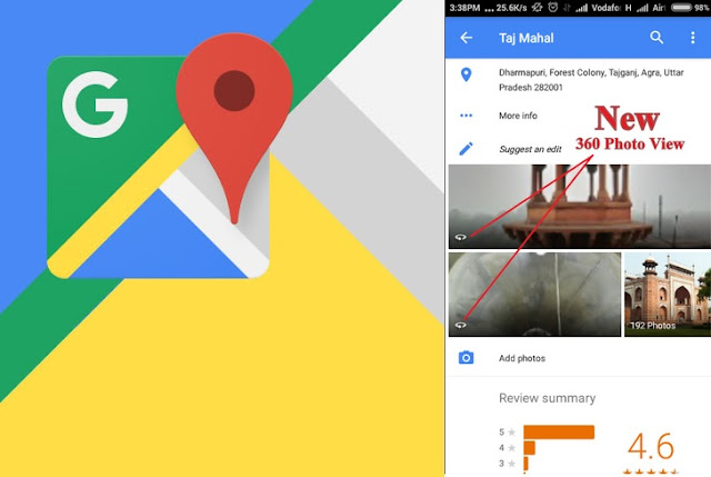 Google Maps Got v9.23.1 Update with New 320-Degree Image view Feature : Download APK