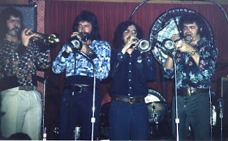 Jim Oatts, Joe Morrissey, Jay Sollenberger, Bill in Houston 1974 (N. Hatt)