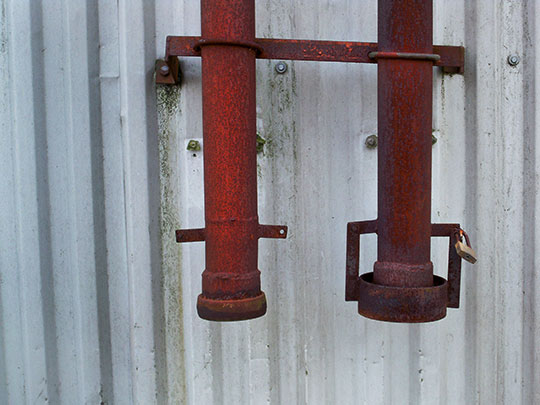 urban photography, urban decay, urban photo, two rusty pipes, contemporary, art, Sam Freek,